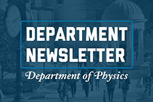 GW CCAS Department of Physics Newsletter graphic