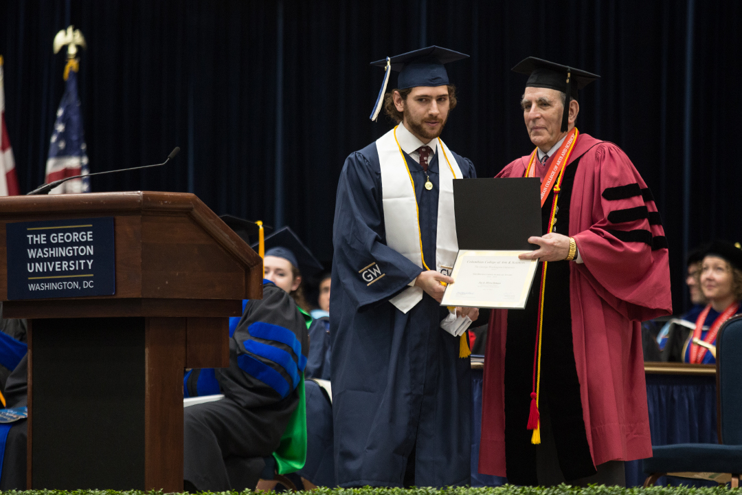 Physics student Jack Hirschman receive distinguished scholar award