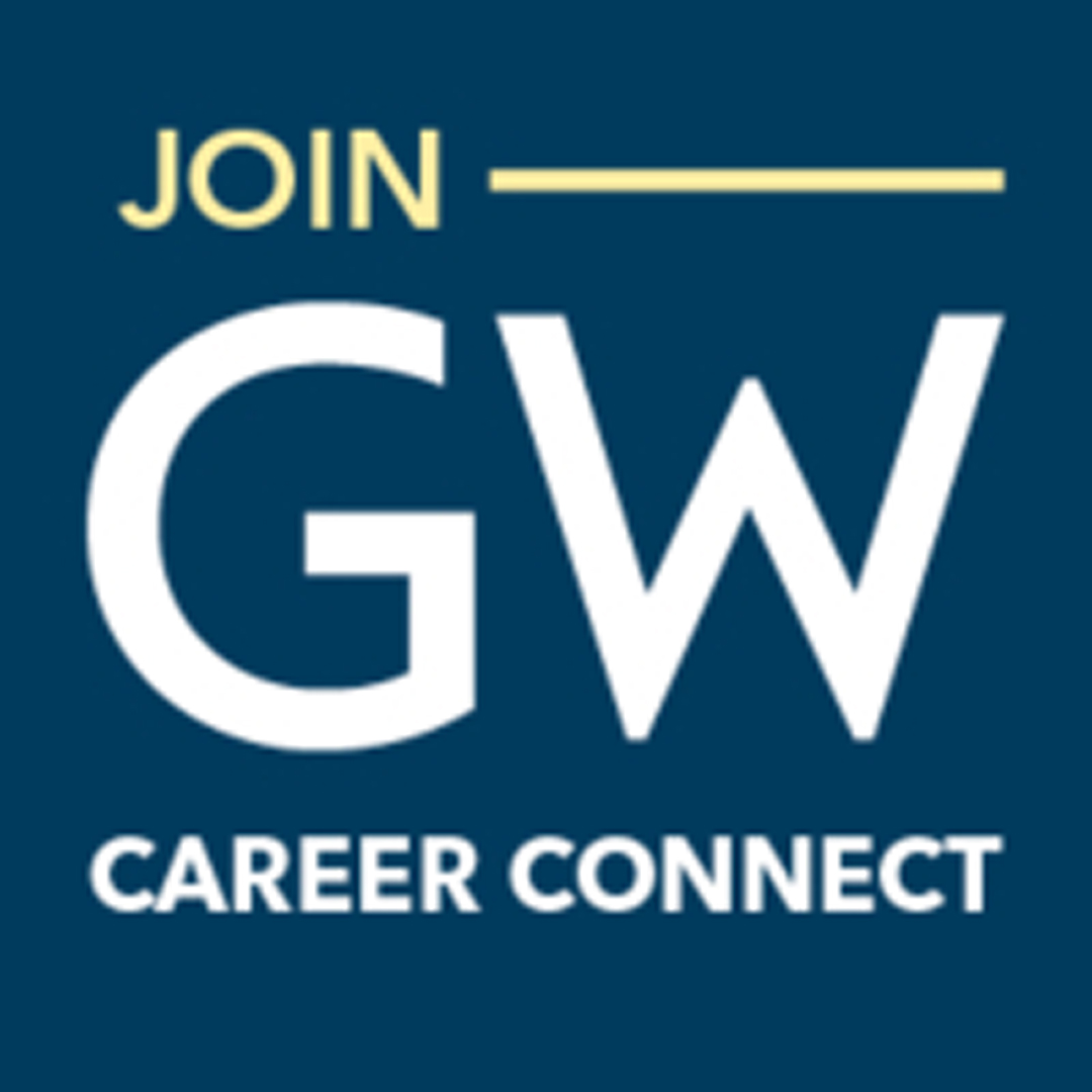 Join GW Career Connect Graphic