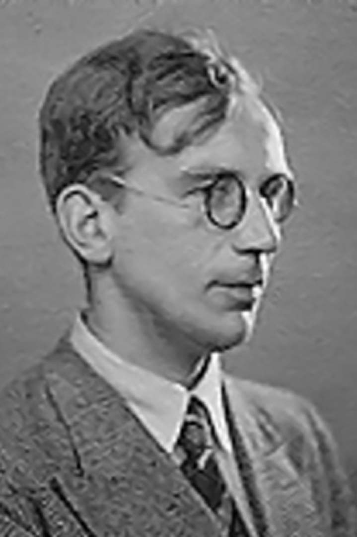 George Gamow in a suit and glasses as a student at Cambridge University.