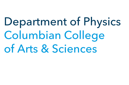 Department of Physics Columbian College of Arts & Sciences graphic